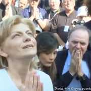 Ennio Doris with Mirjana during apparition in Medjugorje